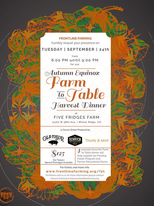 Autumn Harvest Farm to Table (Vegetarian Option)