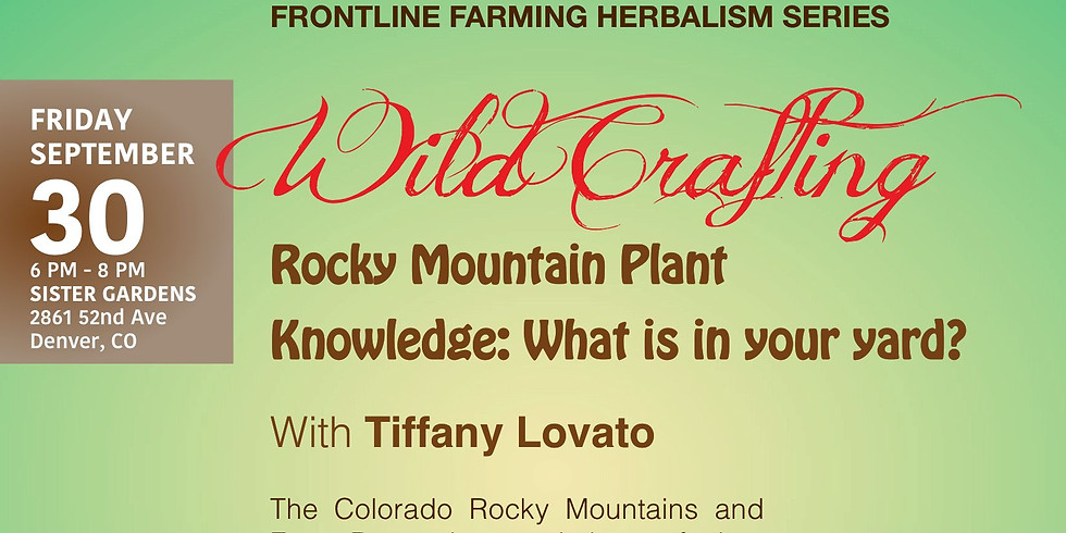 Frontlline Farming Herbalism Series :: WildCrafting. Rocky Mountain Plant Knowledge: What is in your yard?  (1)