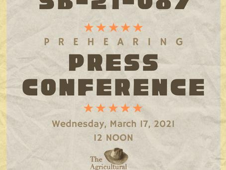 SB-21-087 Pre-Hearing Press Conference