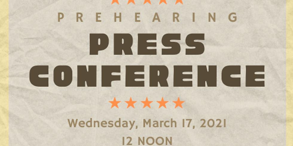 SB 21 087 Prehearing Press Conference