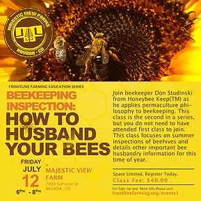Farmer Knowledge Series: Bee Inspection • How to Husband Your Bees