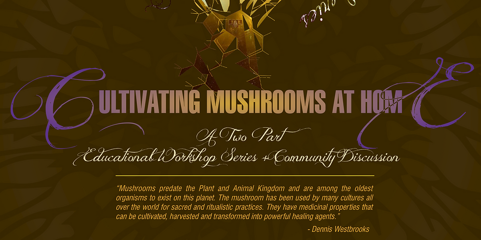 FLF Mycology Knowledge Series: Cultivating Mushrooms At Home:  An Educational Workshop Series + Community Discussion