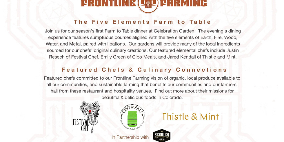 The 5 Elements Farm to Table Dinner