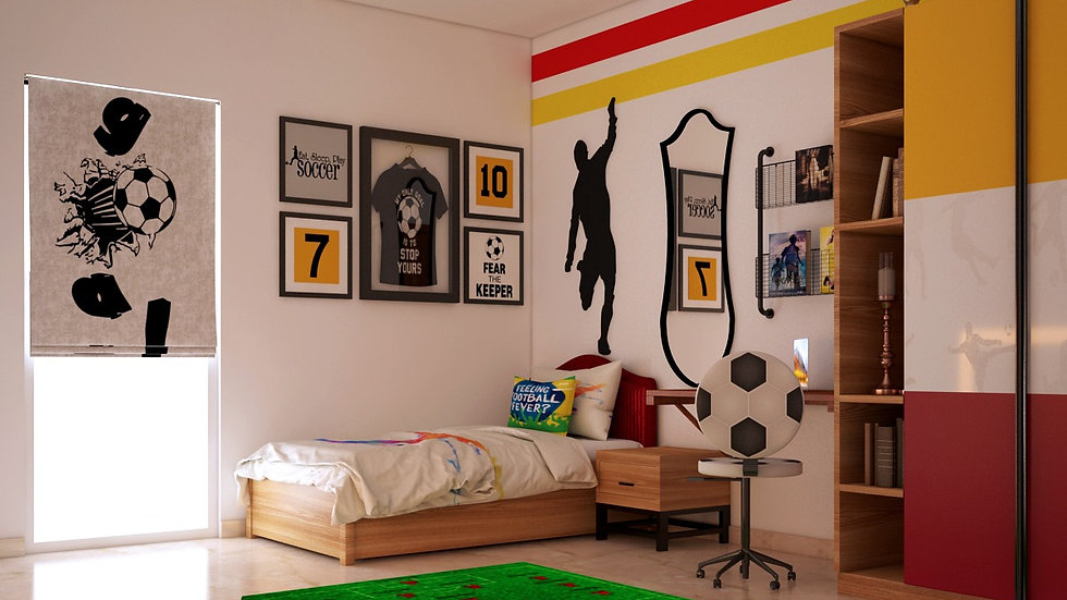 Sports - Football theme interior