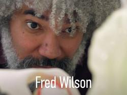 Artist Fred Wilson in his studio