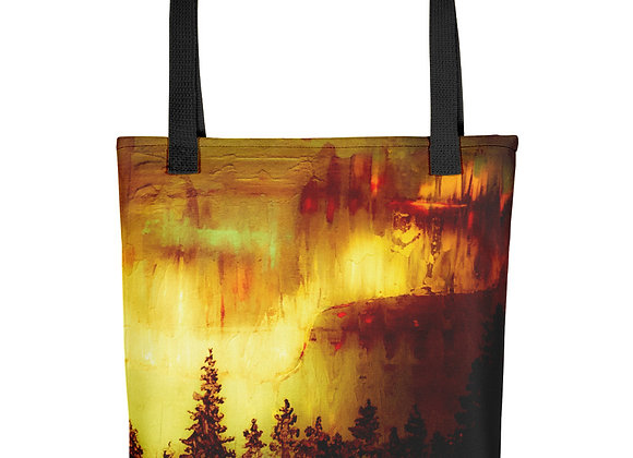Smokey Northern Lights Tote Bag