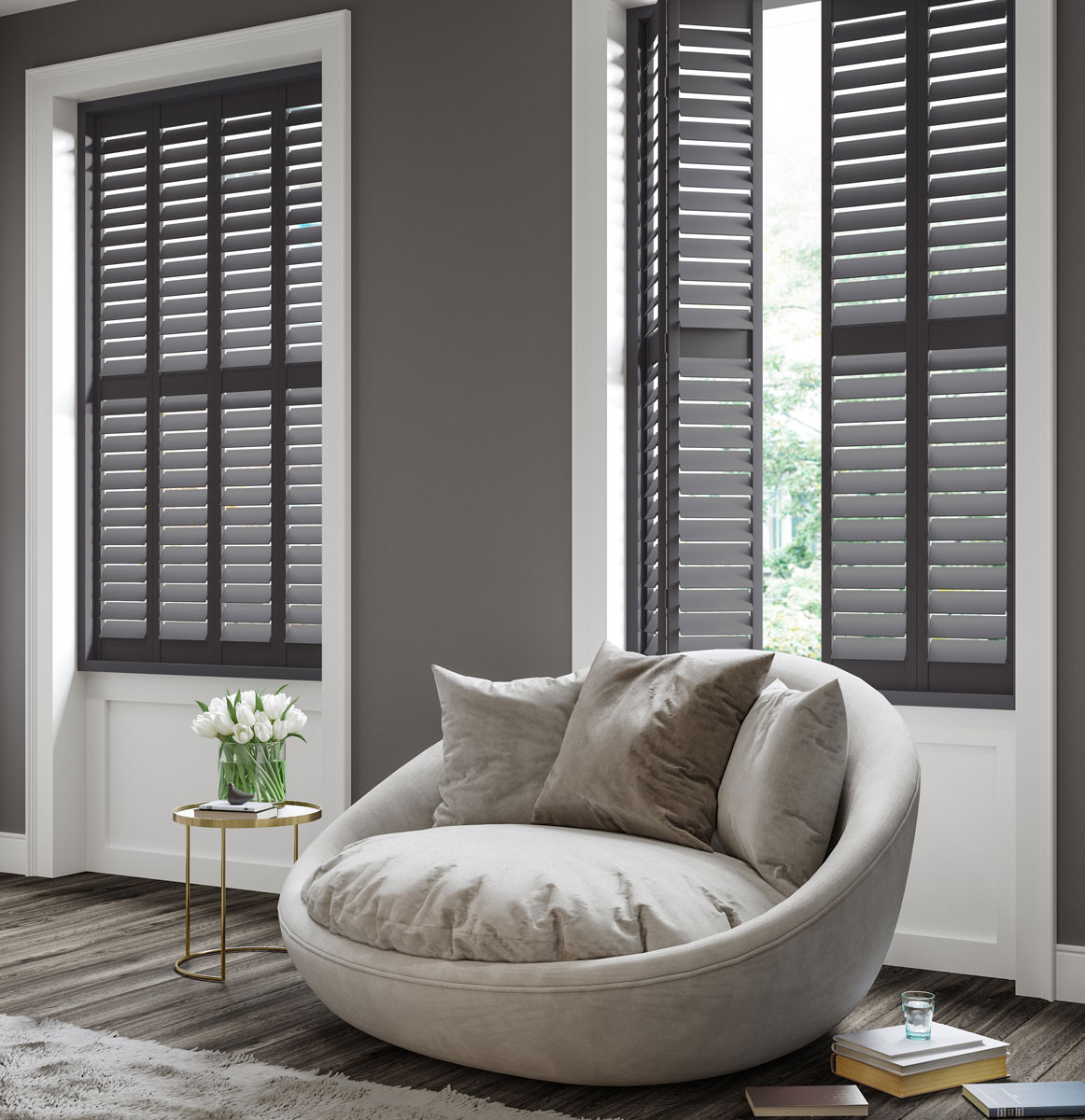 Dakota hardwood shutters