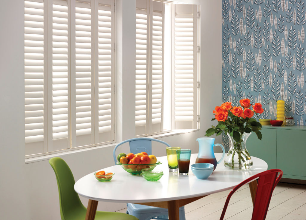 Full Height Bright White Shutters