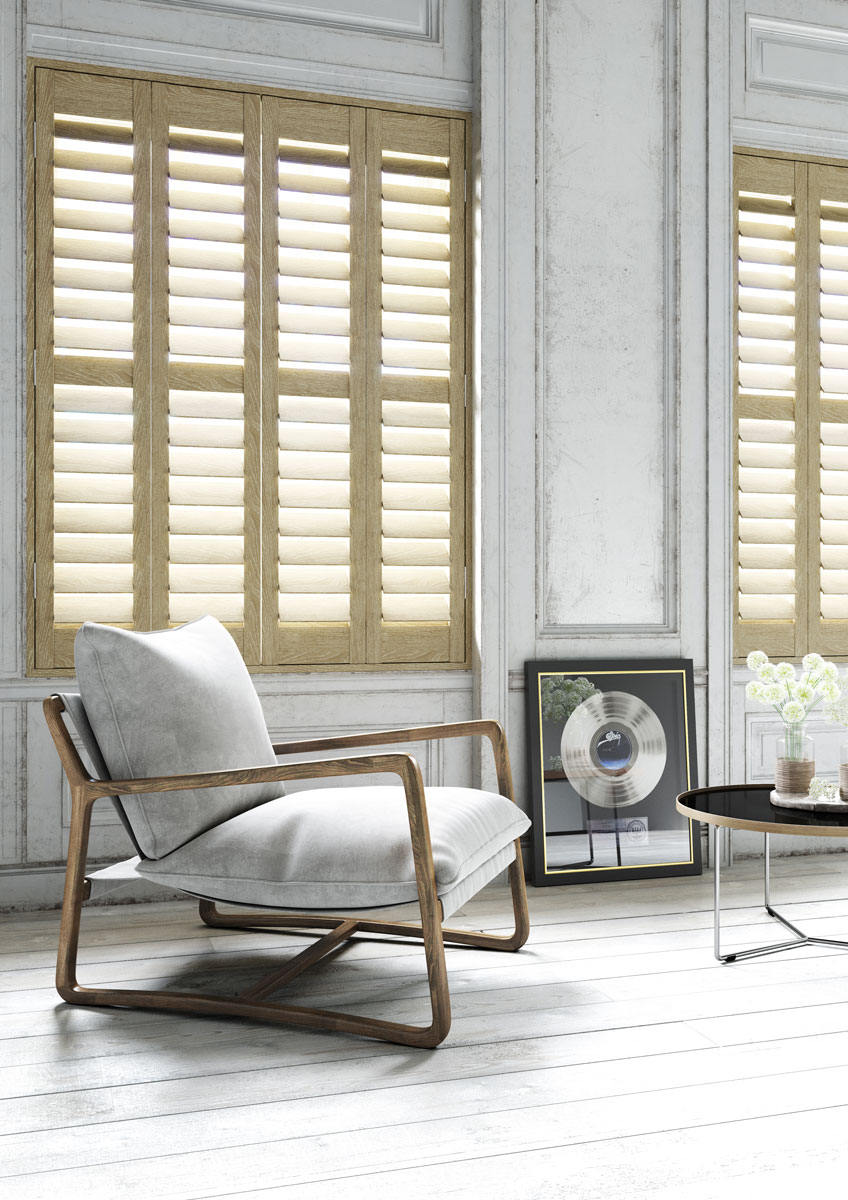 Dakota wood grain shutters range