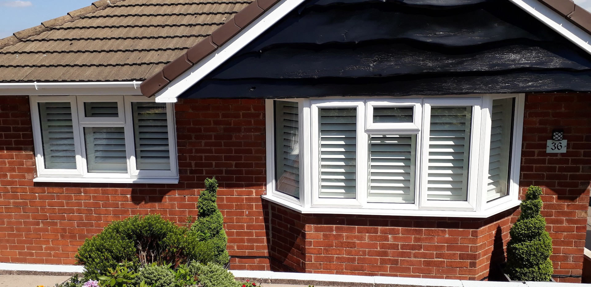 Outside view of shutters