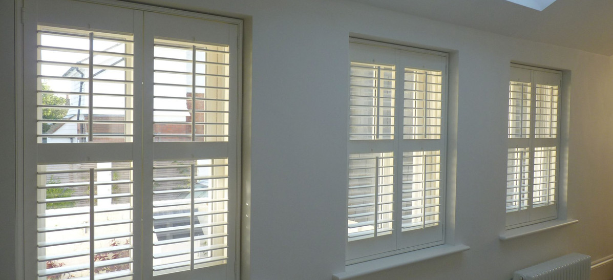 Full height shutters with mid rail