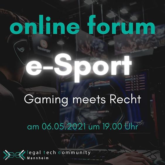 e-Sport - Gaming meets Recht