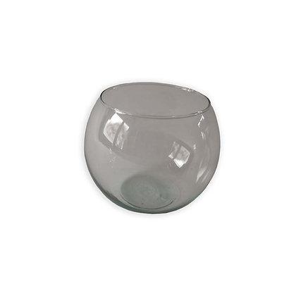 Vase en verre rond transparent