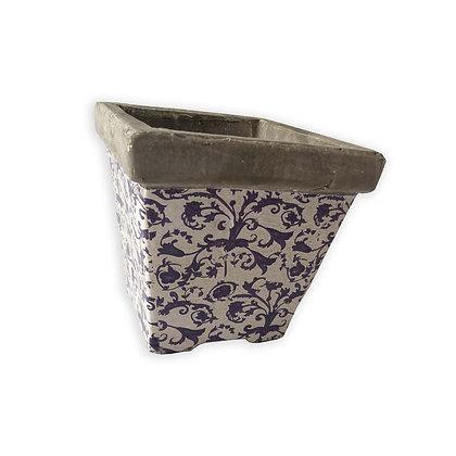 Pot en ceramique patiné
