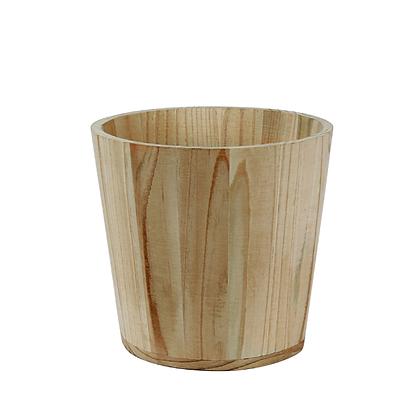 Cache-pot en bois naturel