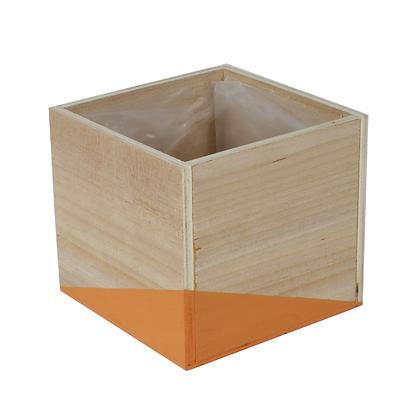 Cache-pot carré en bois
