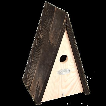 Nichoir en bois triangulaire pour oiseaux