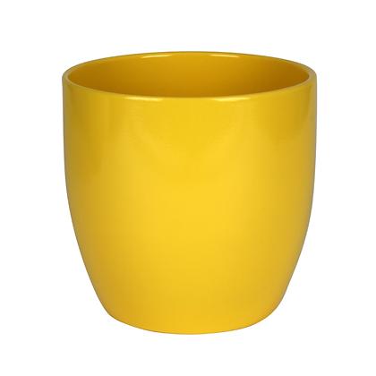 Cache-pot en céramique jaune