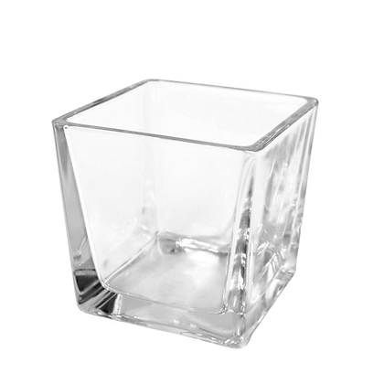 Bougeoir décoré en verre transparent