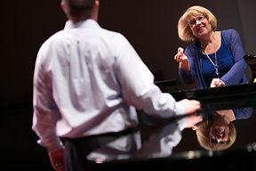 Jane Randolph teaching Chris Sponsellar