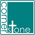 Cornerstone Logo Teal with curved border
