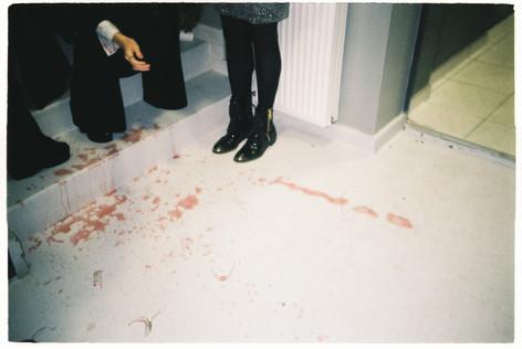 Wine on the floor