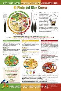 Cartel laminado Plato del Bien Comer Explicado