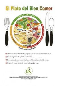 Cartel laminado El Plato del Bien Comer