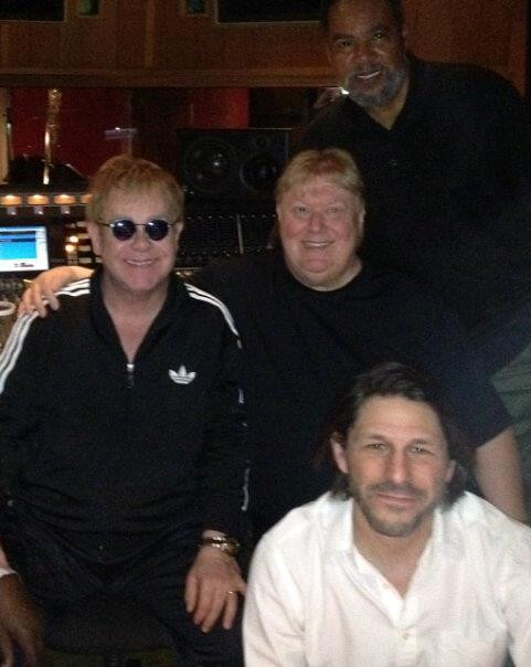 """recording Elton John's album """"The Diving Board"""" (with Bill Maxwell and Perry Morgan)"""