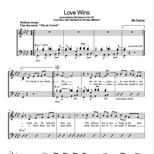 songs from LOVE WINS - Bill Cantos