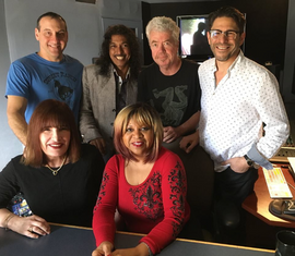 w/Mike Shapiro, Hussain Jiffry, Mike Miller, Bill Cantos, and Deniece Williams in studio