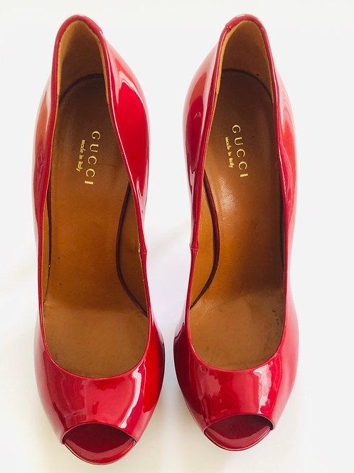 Gucci Peep Toe Heels Size 6.5