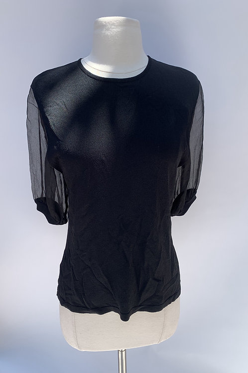 Andrew GN T-Shirt with Chiffon Sleeves - size 36