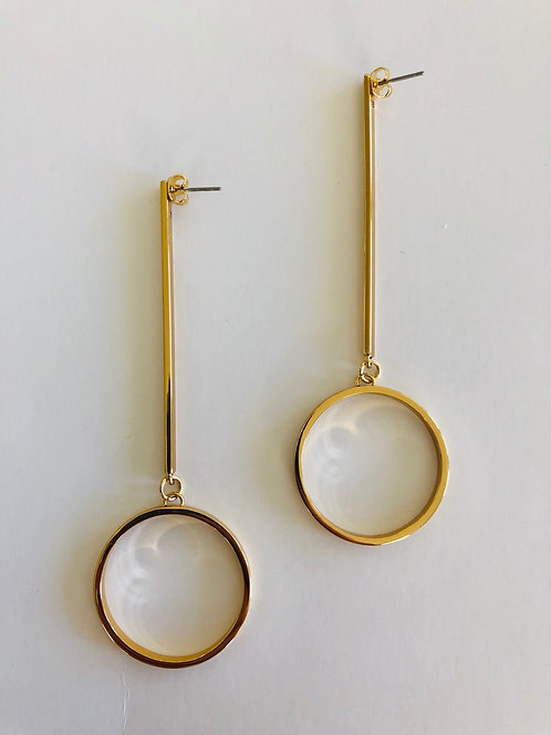 Jenny Bird Drop Hoop Earrings