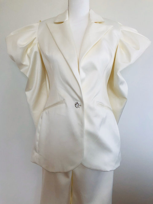 House of CB Cream Suit US Small