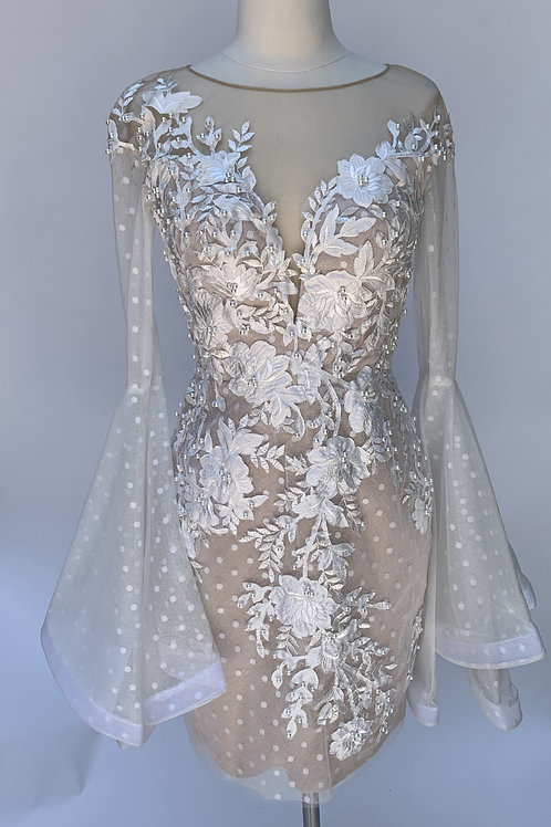 Tarik Ediz white lace dress