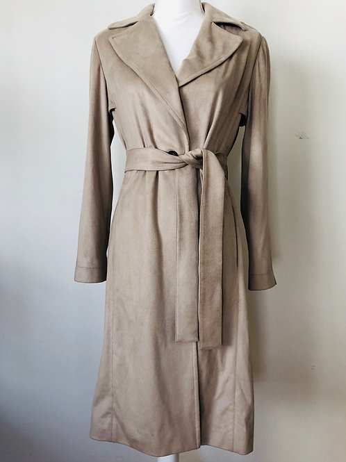 R Label Vegan Suede Trench Size S