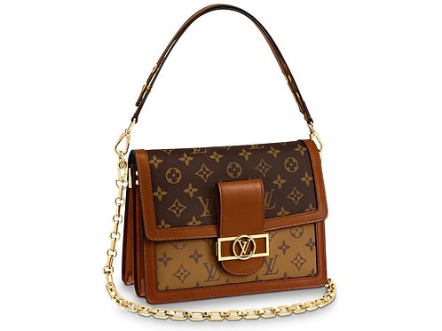 Louis Vuitton Monogram Reverse Canvas MM Dauphine Bag with E.S. Monogram
