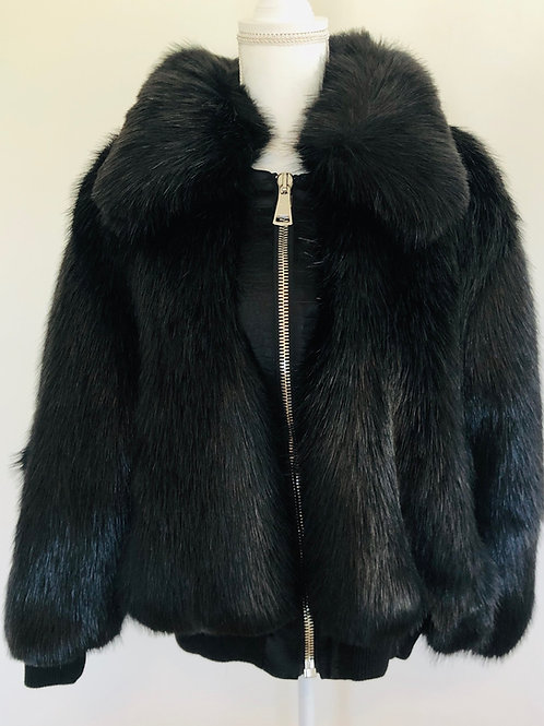 Emory Bee Faux Fur Bomber Size S