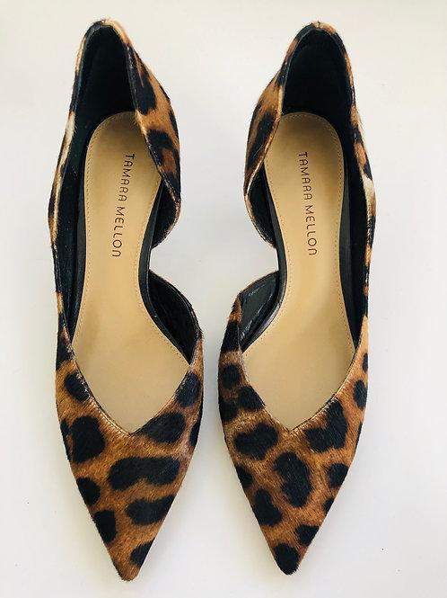 Tamara Mellon Leopard Kitten Heels Size 11