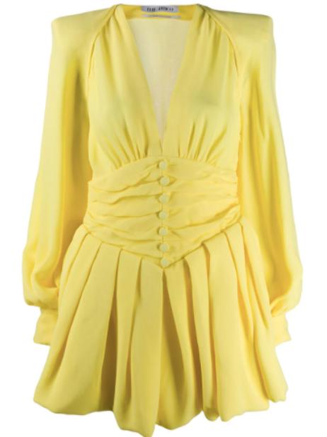 The Attico Pleated Mini Dress Size US 2