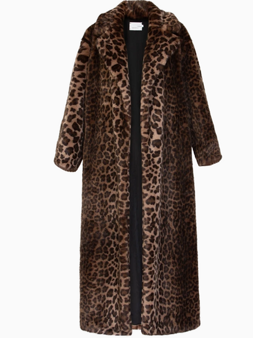 Bouguessa Faux Fur Long Coat Size Small