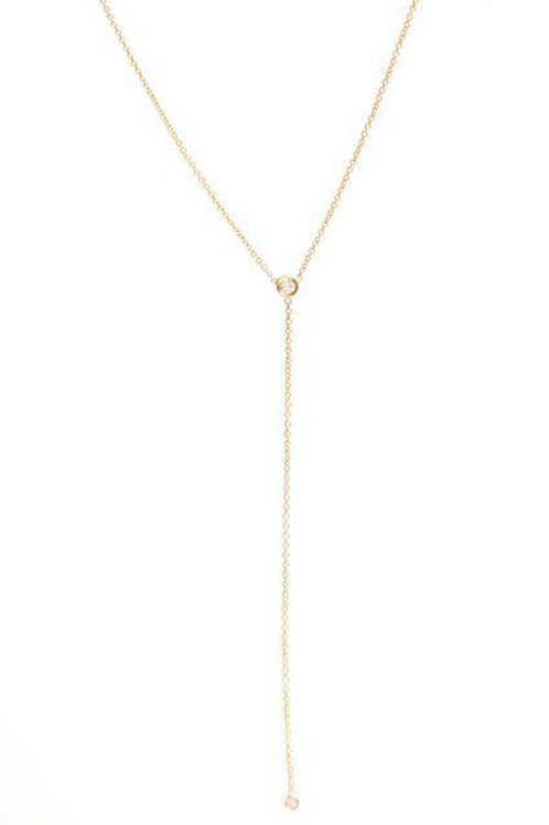 Ariel Gordon Diamond Lariat Necklace