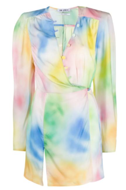 The Attico Tie-Dye Mini Dress Size US 2