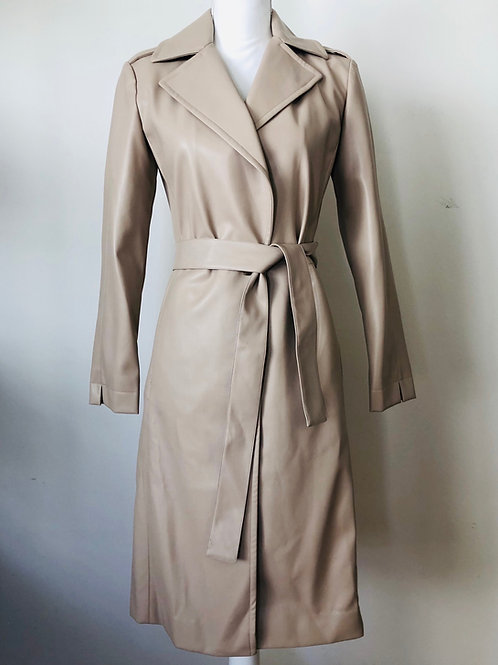 R Label Vegan Leather Trench Size XS
