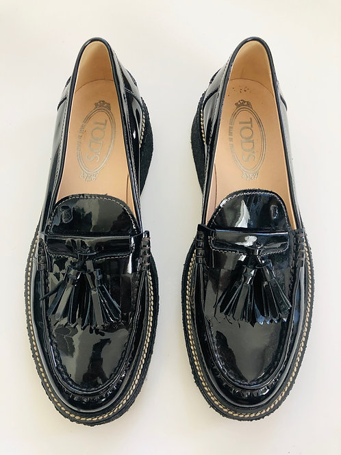 TOD'S Black Loafers Size 9