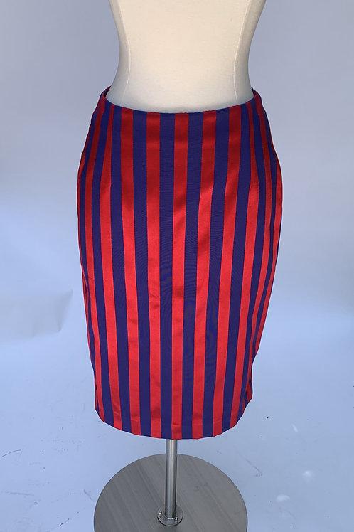 Alexander McQueen Striped Midi Skirt - Size US 2