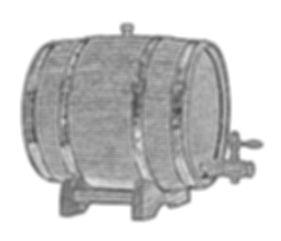 wooden oak barrel for alcohol, wine, bee