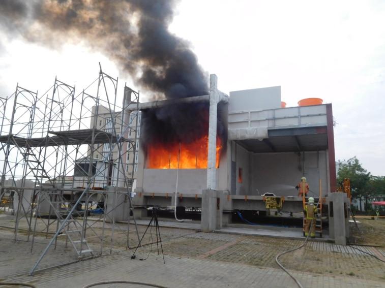 國際首例實尺寸火害、震害多重災害模擬實驗