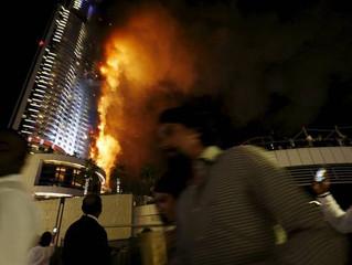 杜拜飯店跨年夜大火 因電線短路所致